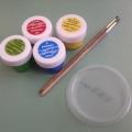 Наше творчество на крышечках от йогурта