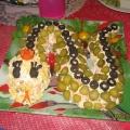Оформление салата в виде змеи. Рецепт