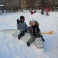 «Зимние постройки из снега»