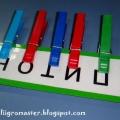 Звуко-буквенный анализ с цветными прищепками
