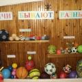 Конспект непосредственно образовательной деятельности по физической культуре с детьми старшей группы «Мячи бывают разные»