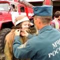 Пожарная эстафета в детском санатории «Сосновый бор».