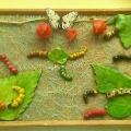 «Волшебное превращение бабочки». Тестопластика. Коллективная работа