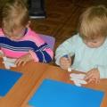 «Зимняя картина». Мастер-класс для детей раннего возраста