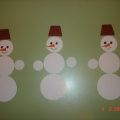 Дидактическая игра «Собери снеговика»