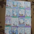 «Красота Российского флота»— рисование фломастерами и цветным карандашом в старшей группе