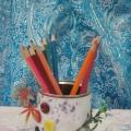 Стаканчики для цветных карандашей.