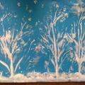 Нетрадиционное рисование капустным листом. «Снежная зима пришла…»