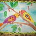 Прилетели птицы в сад.