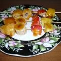Фруктовых шашлычков с медом