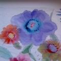 «Красивые цветы»— рисунки детей, выполненные в технике батик.