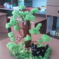 Поделка из бросового материала «У лукоморья дуб зеленый…»