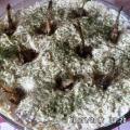 Салат «Рыбные хвостики».
