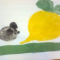 Рисование с элементами аппликации «Мышка и репка». Конспект открытого занятия в младшей группе
