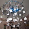 Новогоднее украшение раздевалки— звезда-снежинка