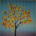 «Осенние деревья» в разной технике аппликации