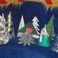 Мое хобби— изготовление Новогодних елочек.