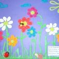 «Цветочная палитра»— картина из пластилина.