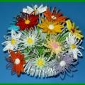Объёмные цветы в технике квиллинг (детский квиллинг).