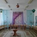 Оформление музыкального зала на 8 марта.