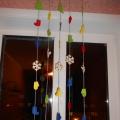 Новогодняя гирлянда на окно из фетра