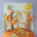 Лепим из мятой бумаги. «Осенний пейзаж»