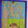Картина гриб по дубом. Занятие по аппликации из природного материала