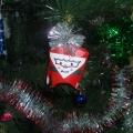 Дед Мороз из рулона от туалетной бумаги (игрушка на ёлку)