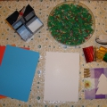 «Пушистая ёлочка». Мастер-класс по изготовлению новогодней открытки с детьми 3 лет