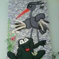 Панно «Лягушка и цапля»