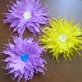 Мастер-класс. Хризантемы из гофрированной бумаги.
