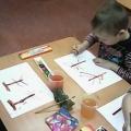 Конспект образовательной деятельности по рисованию в технике оттиска поролоном в средней группе «В гости к Лесовичку»