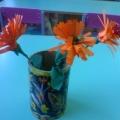 Календула. Объёмный цветок из бумаги.