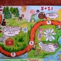 Настольная дидактическая игра для старших дошкольников «Путешествие по стране знаний»