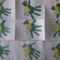 Конспект занятия по рисованию оттиском ладошки в средней группе «Синичка»