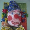 Мастерим из мятой бумаги и бросового материала. «Клоун»