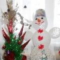 Наш весёлый снеговик
