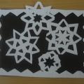 Совместная деятельность (аппликация) «Белые снежинки за окном летят»