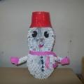 Снеговик из модулей оригами совсем не устарел