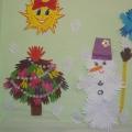 Снеговик в гостях у малышей