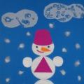 Аппликация «Весёлый снеговик»