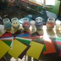 Использование цветной манной крупы в упражнении на взаимодействие