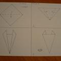 Поделки из бумаги «Рыжие лисята» (оригами)
