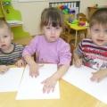 Занятие на тему: «Червячки для цыпленка Цыпа» в группе раннего возраста