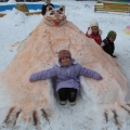 Снежные постройки для игр в детском саду