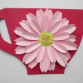 Открытка-чашечка с цветком (МК)