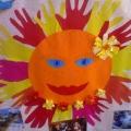 Солнца лучик золотой заглянул к нам в группу. Коллективная творческая работа.