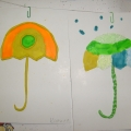 «Веселые зонтики»— поделки из пластилина