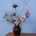 Моё увлечение— изготовление цветов для украшения группы.