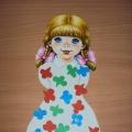 Дидактическая игра по обучению детей грамоте «Укрась платье Алисы»